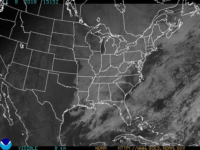 Visible Light Satellite Image for Clarksville TN, Fort Campbell KY and Montgomery County Tennessee.